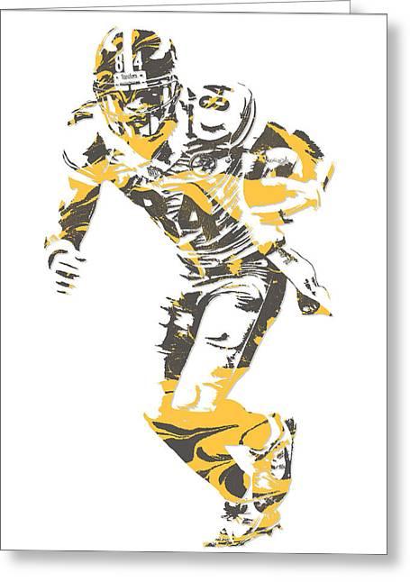 Antonio Brown Pittsburgh Steelers Pixel Art 18 Greeting Card