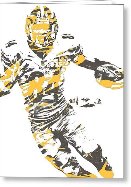 Antonio Brown Pittsburgh Steelers Pixel Art 21 Greeting Card