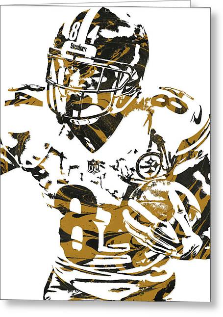 Antonio Brown Pittsburgh Steelers Pixel Art 5 Greeting Card