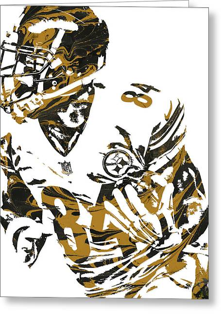 Antonio Brown Pittsburgh Steelers Pixel Art 7 Greeting Card