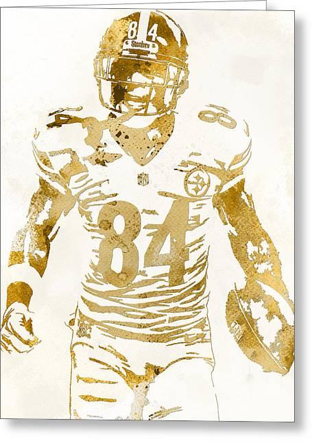 Antonio Brown Pittsburgh Steelers Water Color Art 2 Greeting Card