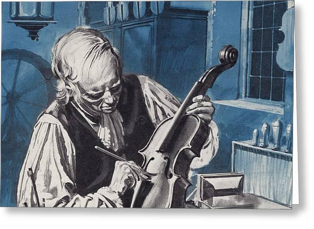 Antonio Stradivari Greeting Card by English School