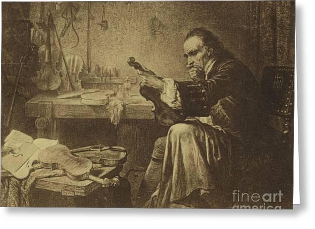 Antonio Stradivari Greeting Card by Italian School