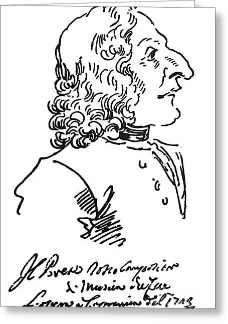 Antonio Vivaldi (c1675-1741) Greeting Card by Granger