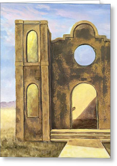 Antonito Mission Greeting Card by Sandi Snead