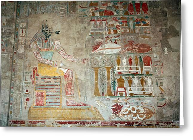 Anubis, Jackal-headed God Of Mummification Greeting Card by Aivar Mikko