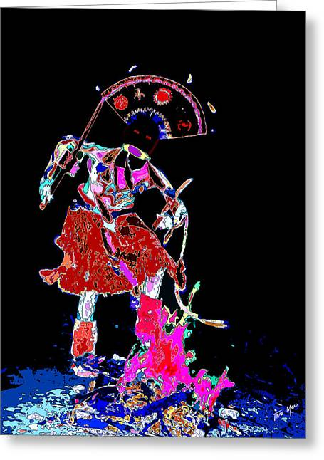 Apache Crown Dancer Greeting Card by Tray Mead