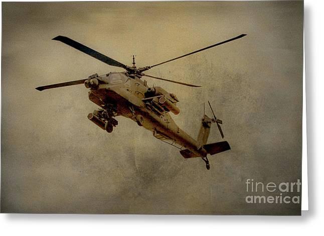 Apache Desert Takoff Greeting Card by Randy Steele