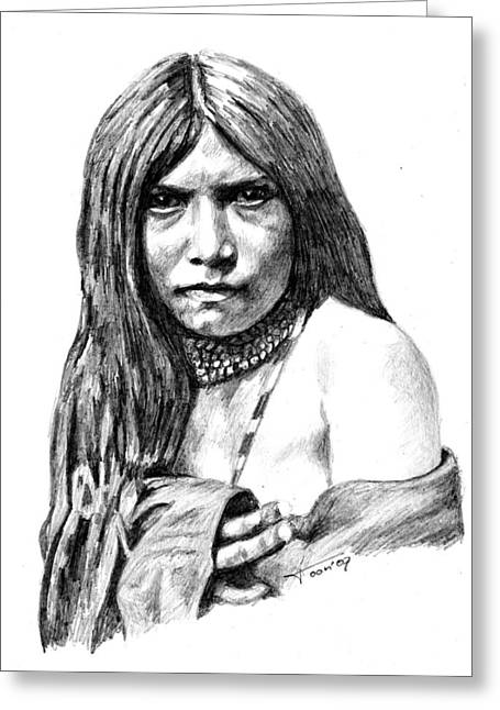 Apache Girl Zosh Clishn Greeting Card