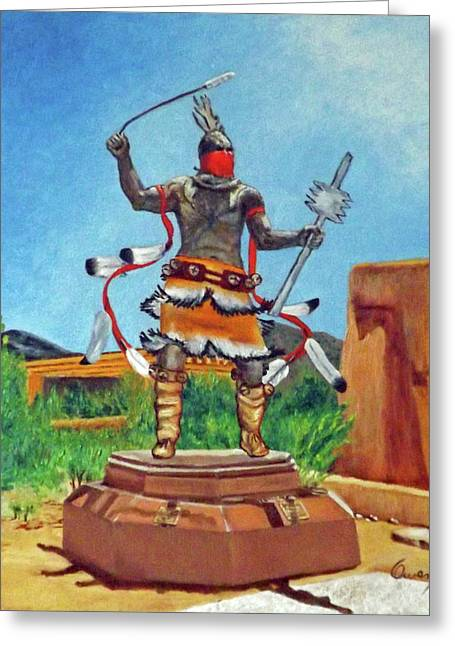 Apache Mountain Spirit Dancer Greeting Card