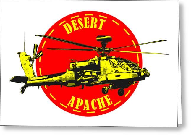Apache On Desert Greeting Card