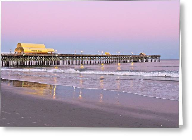 Apache Pier Sunset Greeting Card