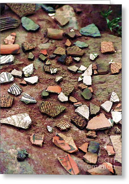 Greeting Card featuring the photograph Apache Pottery Shards by Juls Adams