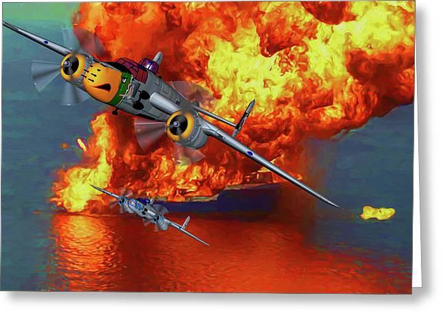 Apache Strike - Oil Greeting Card