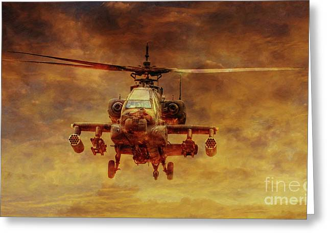 Apache Sunset Greeting Card