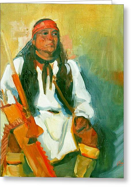 Apache Urban Warrior Greeting Card