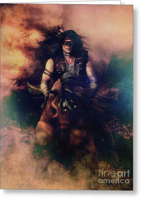 Apache Warrior Greeting Card