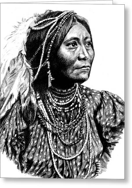 Apache Woman Greeting Card
