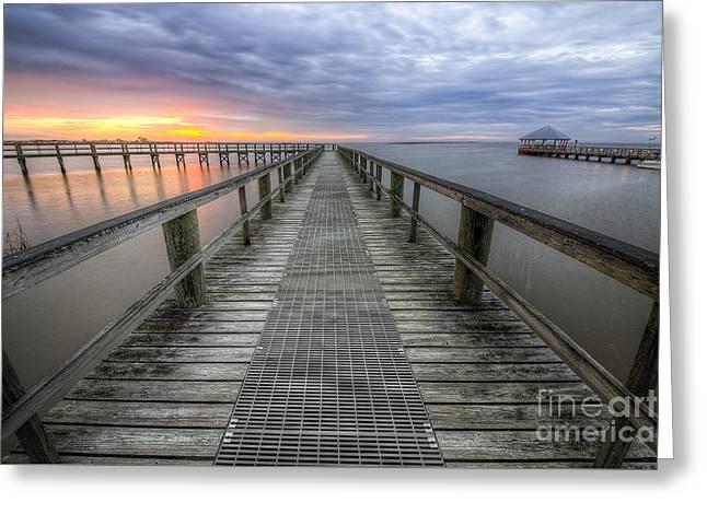 Apalachicola Boardwalk Greeting Card by Twenty Two North Photography