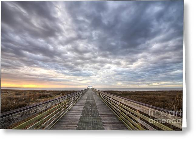 Apalachicola Morning Sky Greeting Card by Twenty Two North Photography