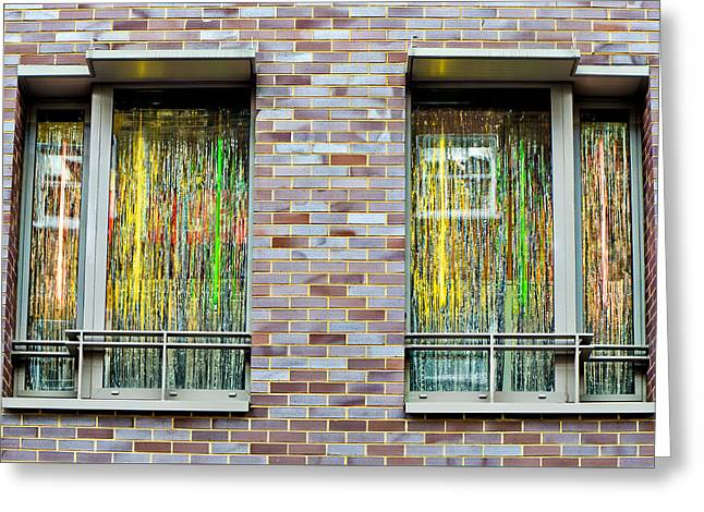 Apartment Window Greeting Card by Tom Gowanlock