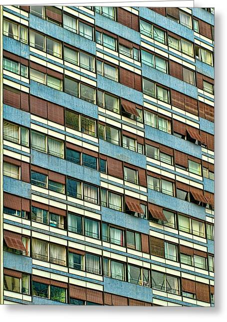 Greeting Card featuring the photograph Apartment Windows by Kim Wilson