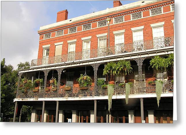 Apartments French Quarter Greeting Card by Jack Herrington