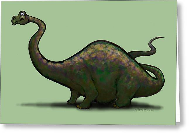Apatosaurus  Greeting Card by Kevin Middleton