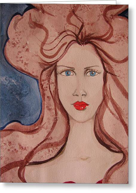 Aphrodite Greeting Card by Lindie Racz