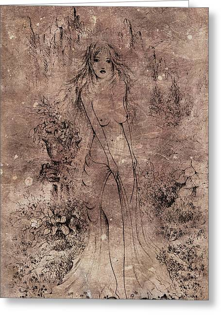 Aphrodite Of The Sea Greeting Card by Rachel Christine Nowicki
