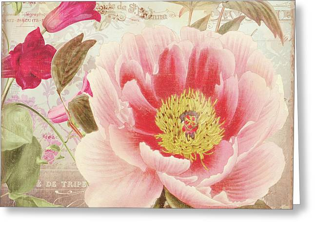 Aphrodite Peony Greeting Card by Mindy Sommers