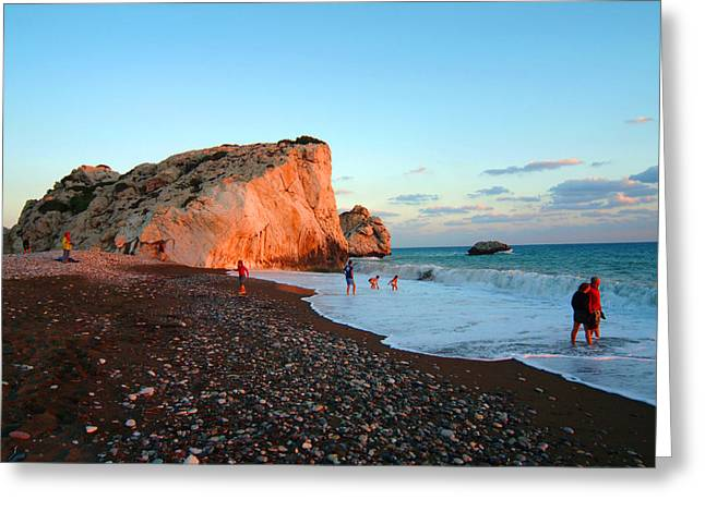 Aphrodites Rock Greeting Card by Donald Buchanan