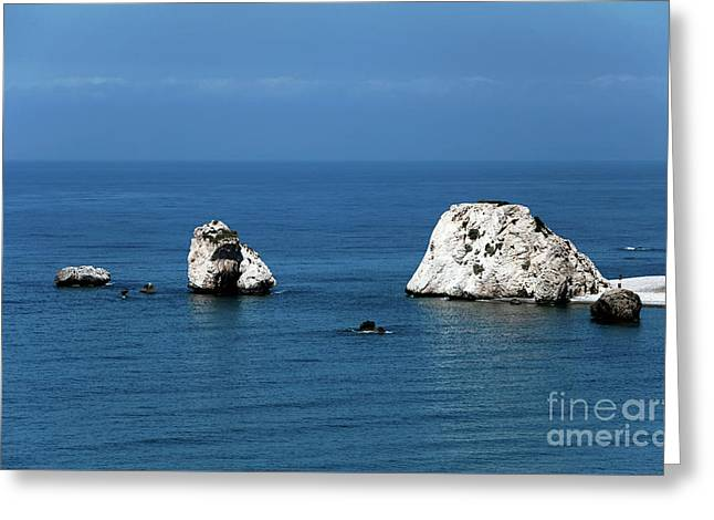 Aphrodite's Rocks Greeting Card by John Rizzuto