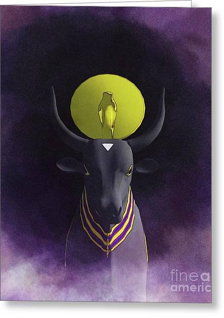 Apis Bull - God Of Egypt Greeting Card