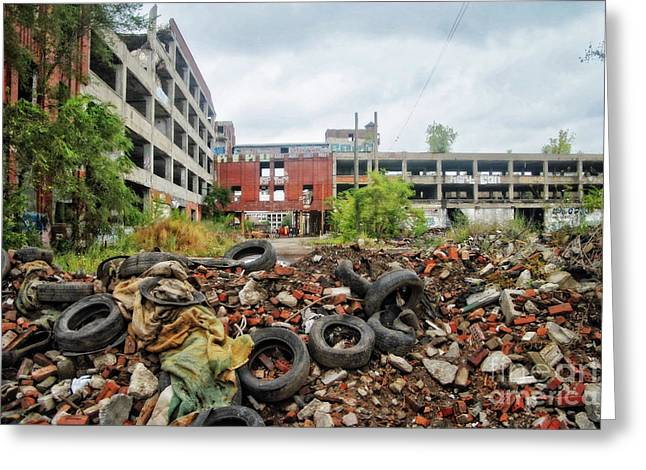 Apocalypse Detroit 11 Greeting Card by Walter Oliver Neal