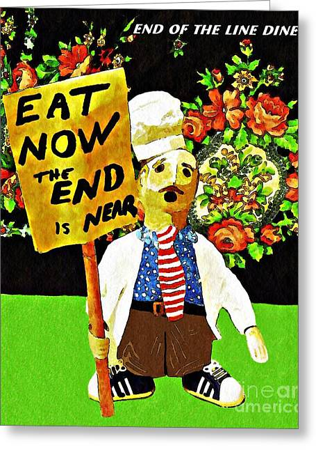 Apocalyptic Chef Greeting Card by Sarah Loft