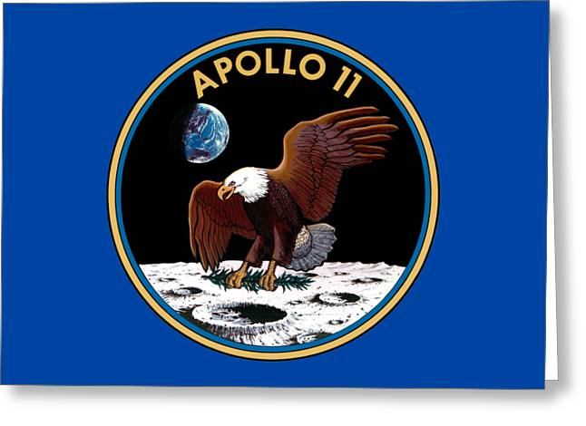 Apollo 11 Patch Greeting Card by Art Gallery