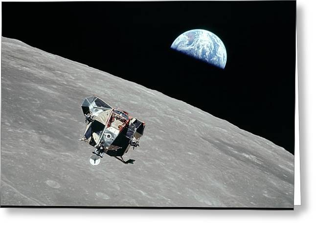 Apollo 11 Greeting Card by Peter Chilelli