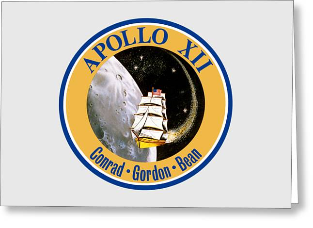 Apollo 12 Insignia Greeting Card by Art Gallery