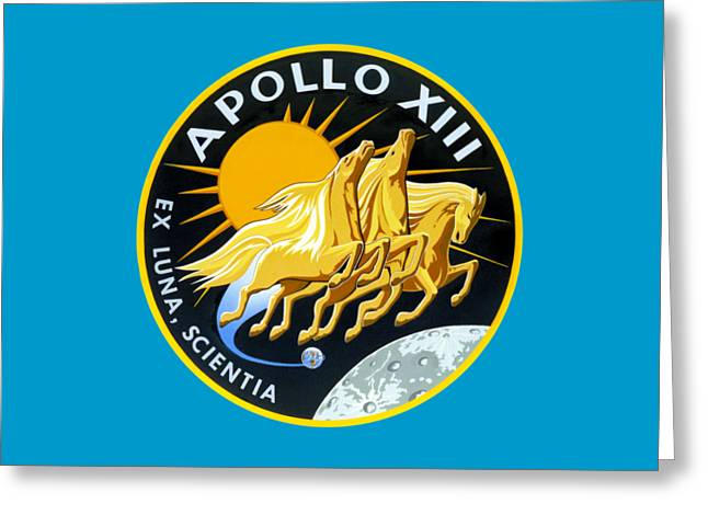 Apollo 13 Insignia Greeting Card by Art Gallery