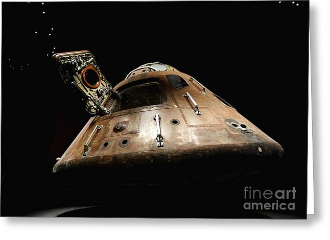 Apollo 14 Greeting Card by Glennis Siverson