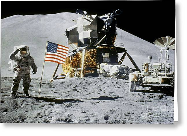 Ambition Greeting Cards - Apollo 15: Jim Irwin, 1971 Greeting Card by Granger