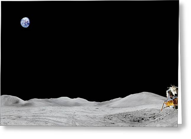 Apollo 15 Landing Site Panorama Greeting Card
