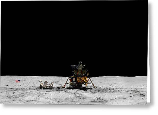 Apollo 16 Landing Site Panorama Greeting Card