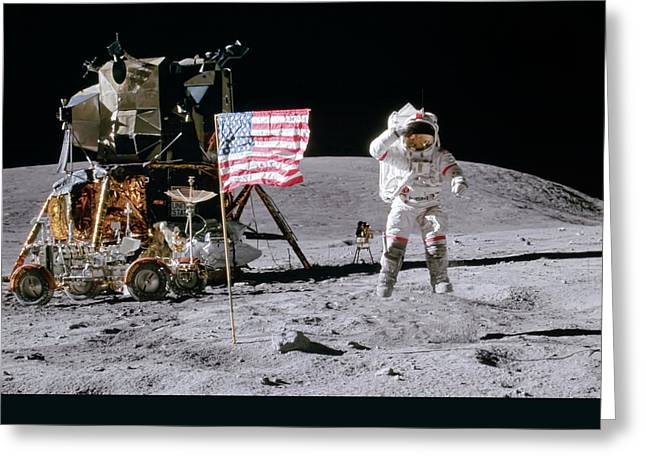 Apollo 16 Greeting Card by Peter Chilelli