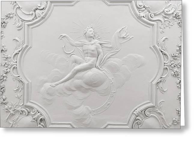 Apollo Room Ceiling In The Dublin Castle Greeting Card by RicardMN Photography