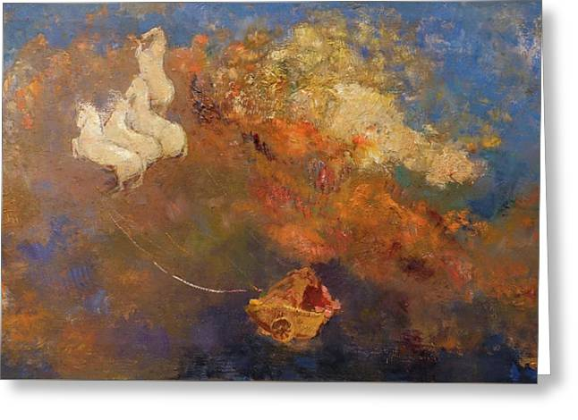 Apollo's Chariot Greeting Card by Odilon Redon