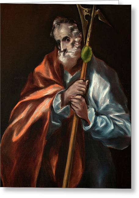 Apostle Saint Thaddeus, Jude Greeting Card by El Greco