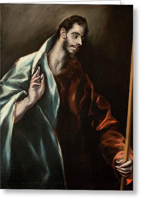 Apostle Saint Thomas Greeting Card by El Greco