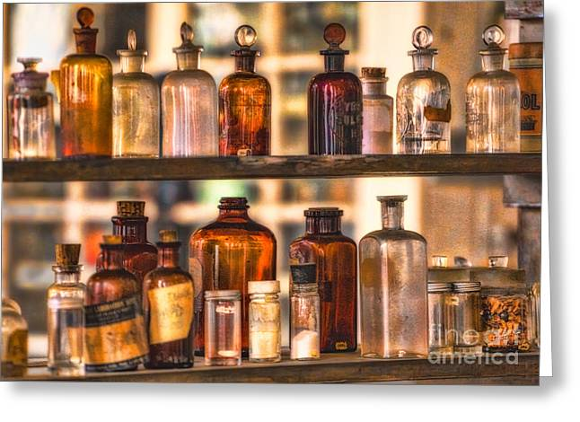 Apothecary Bottles Greeting Card